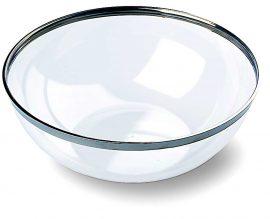 8 Ciotoline plastica trasparenti eleganti bordo argento